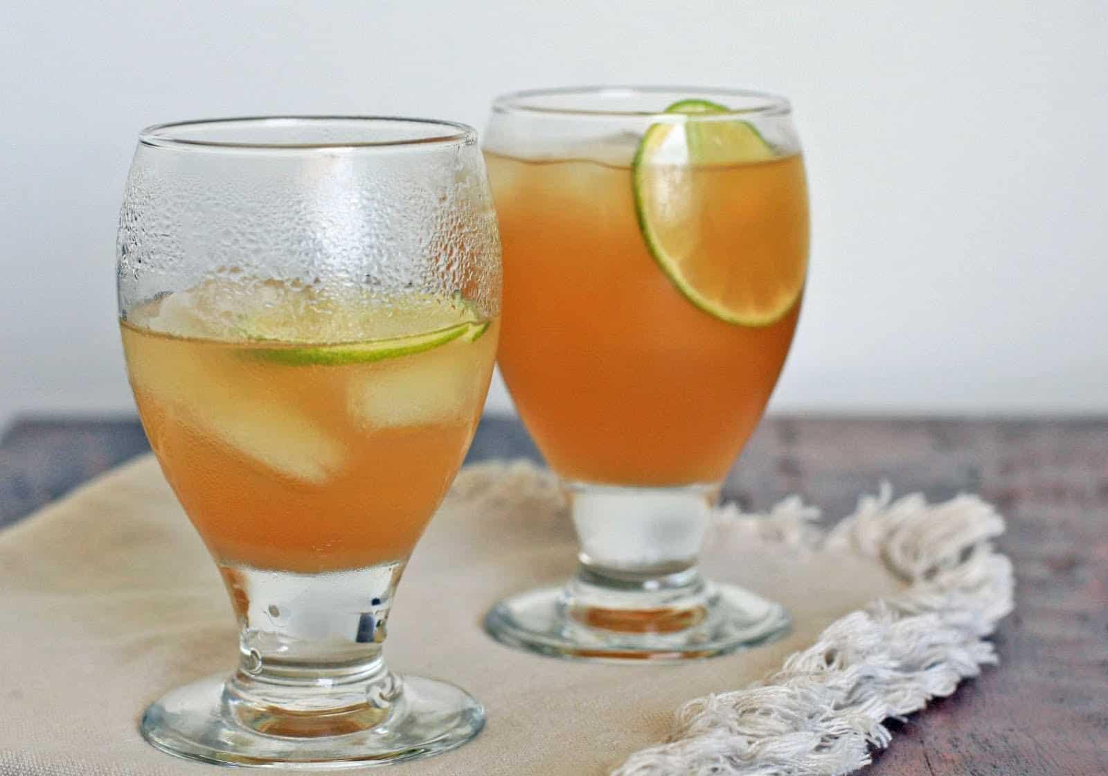 عصير الحامض والزنجبيل