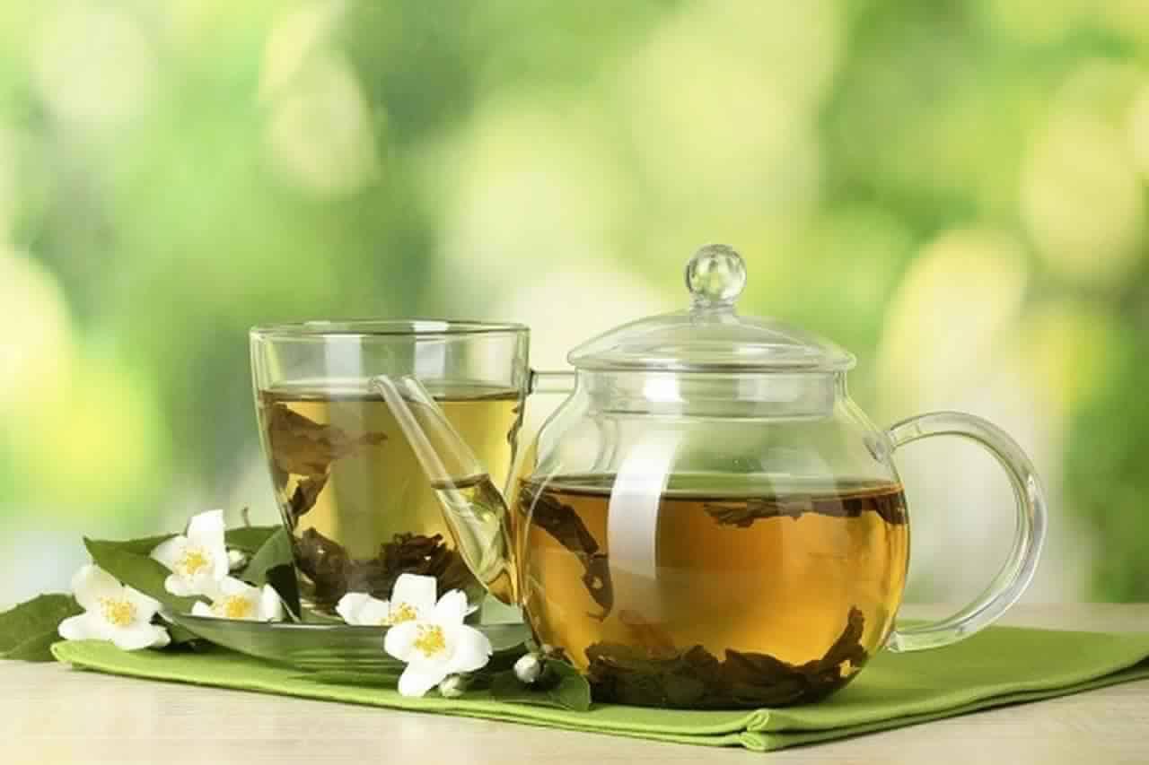 الشاي الأخضر والزنجبيل