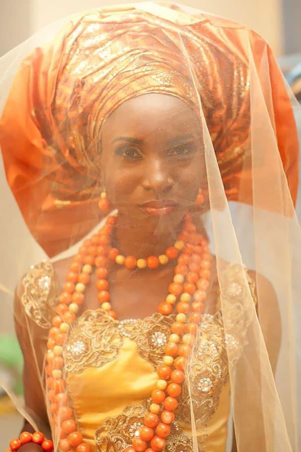 لباس العروس في نيجيريا