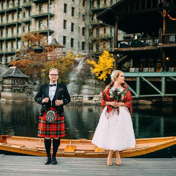 لباس العروس في اسكتلندا