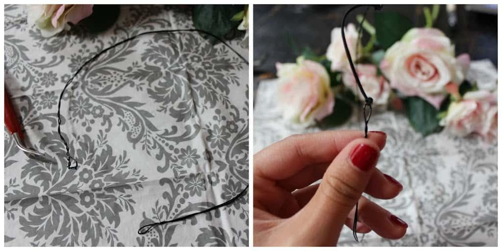 صور طريقة صنع إكليل الورد