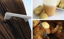 كيف تستخدمين عصير البطاطس لتحفيز نمو الشعر ؟