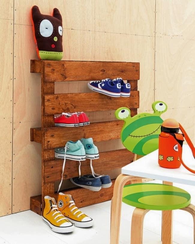 طرق ترتيب أحذية الأطفال