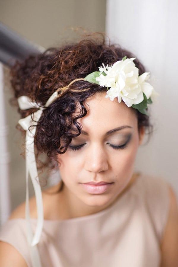 تسريحات الشعر المجعد للعرائس