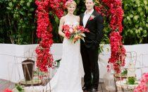 بالصور: أكثر من 20 فكرة رائعة لقوس الورد في  الزفاف