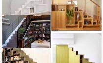 أفكار عملية لاستغلال مساحة تحت السلالم