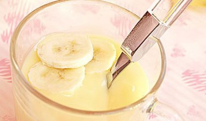 عصير الموز اللذيذ