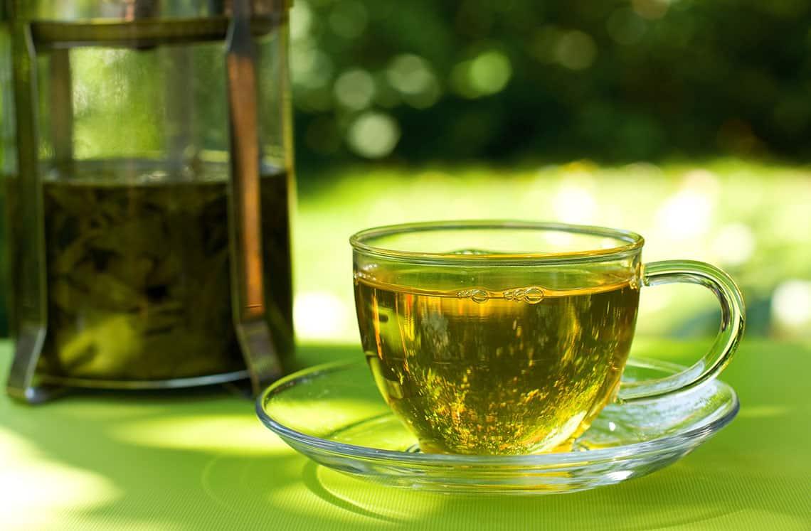 شراب الزنجبيل والشاي الاخضر