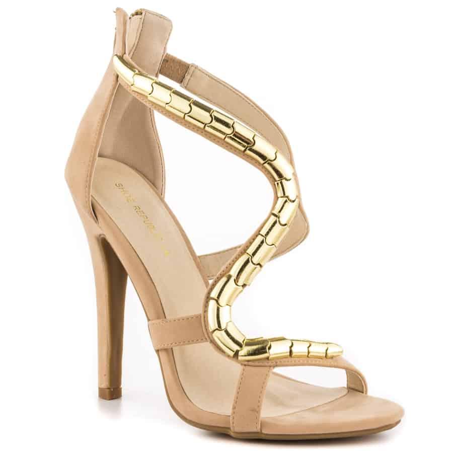 أحدث تصاميم الأحذية بلون الجلد لربيع وصيف