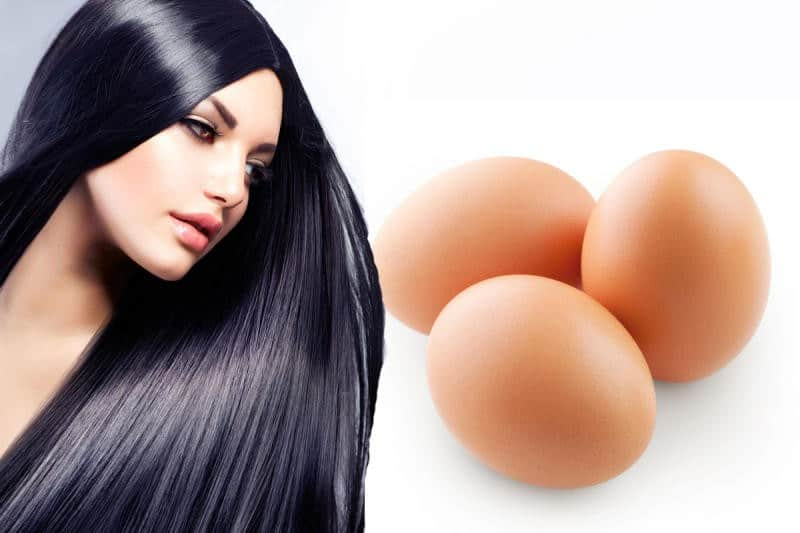 وصفات صفار البيض لشعر قوي