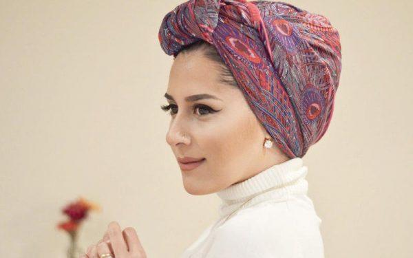 بالصور: لفات حجاب أنيقة لموسم العيد