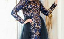 بالصور: أجمل موديلات الفساتين المنقوشة للمحجبات