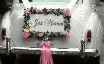 بالصور: أفكار جميلة لتزيين سيارة الزفاف