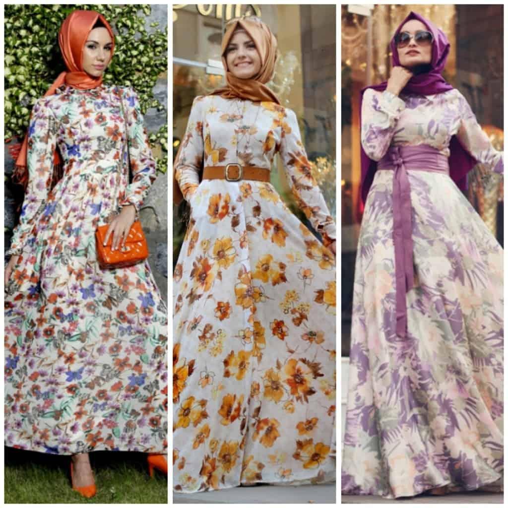 الفساتين المنقوشة موضة كروز 2018