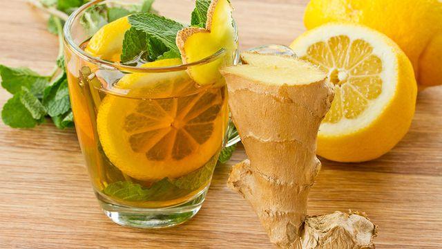 مشروب الزنجبيل والليمون