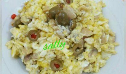 كيفية تجهيز البيض بالفطر لفطور الصباح