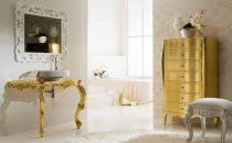بالصور: ديكور حمامات باللون الذهبي الفاخر