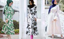 بالصور: أجمل موديلات الفساتين الطويلة  للمحجبات