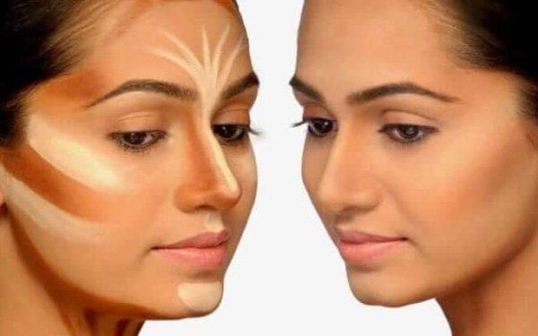 اكتشفي طريقة تنحيف الوجه المستدير بالماكياج