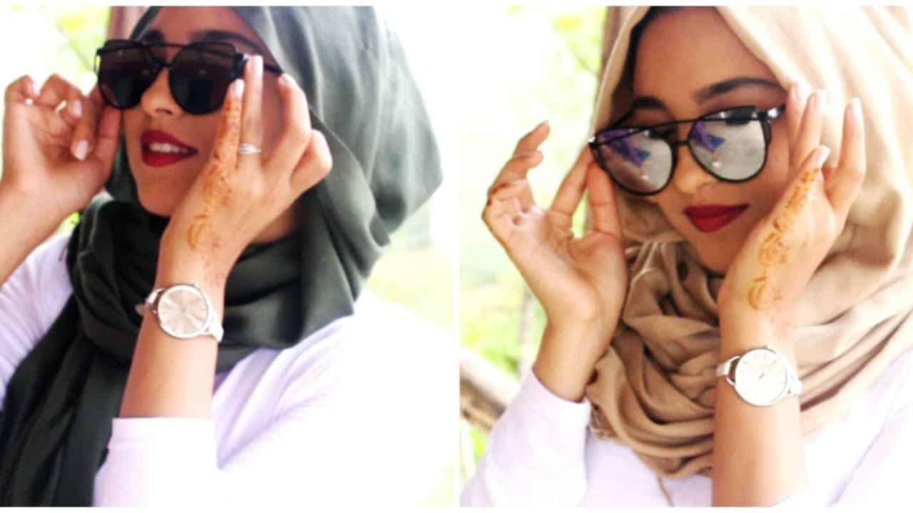 نصائح لتنسيق النظارات حسب شكل حجابك