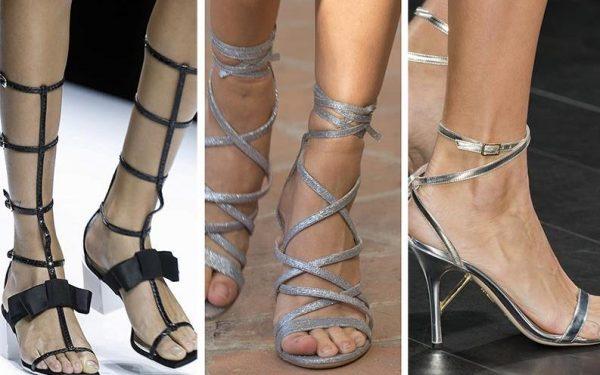 اكتشفي أحدث موديلات الأحذية البراقة لصيف 2018