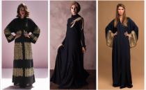 بالصور: موديلات عبايات باللون الأسود والذهبي للسهرات