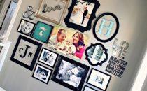 أفكار ديكور مميزة لتزيين الحائط بالصور