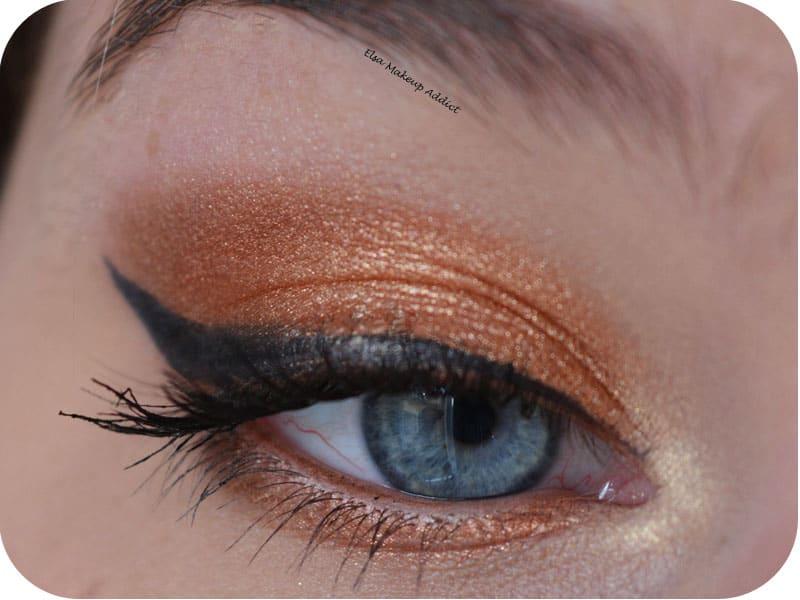 ماكياج عيون برتقالي