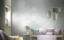 بالصور: ورق جدران بألوان الميتاليك لإطلالة فخمة