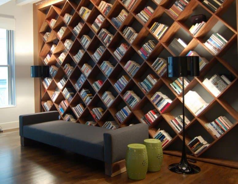 أفكار مختلفة وعصرية لتجهيز المكتبات المنزلية