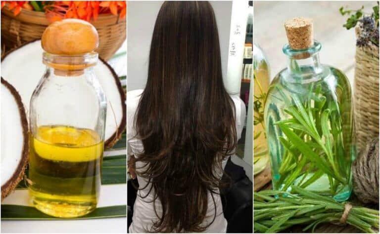 علاج زيت جوز الهند وإكليل الجبل لتطويل الشعر