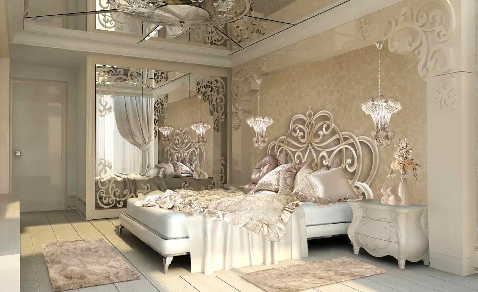 غرف نوم فاخرة