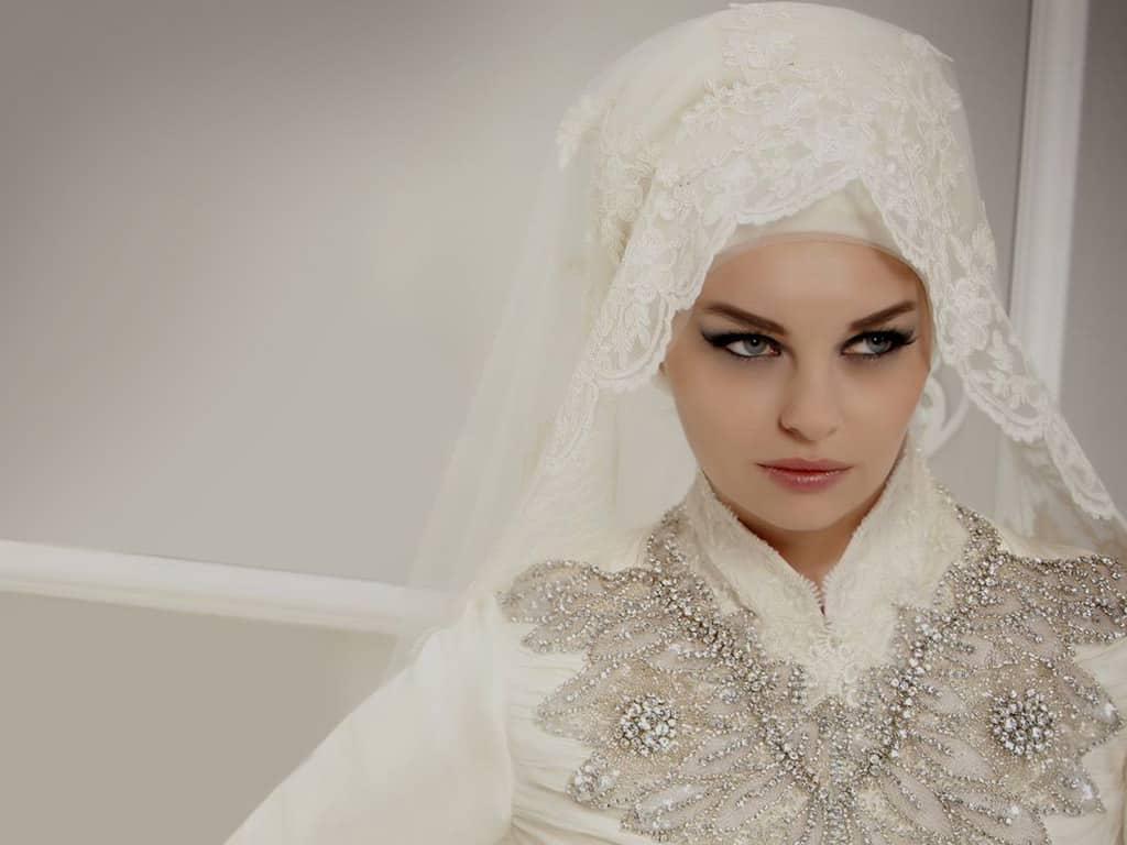 طرحات عروس محجبة