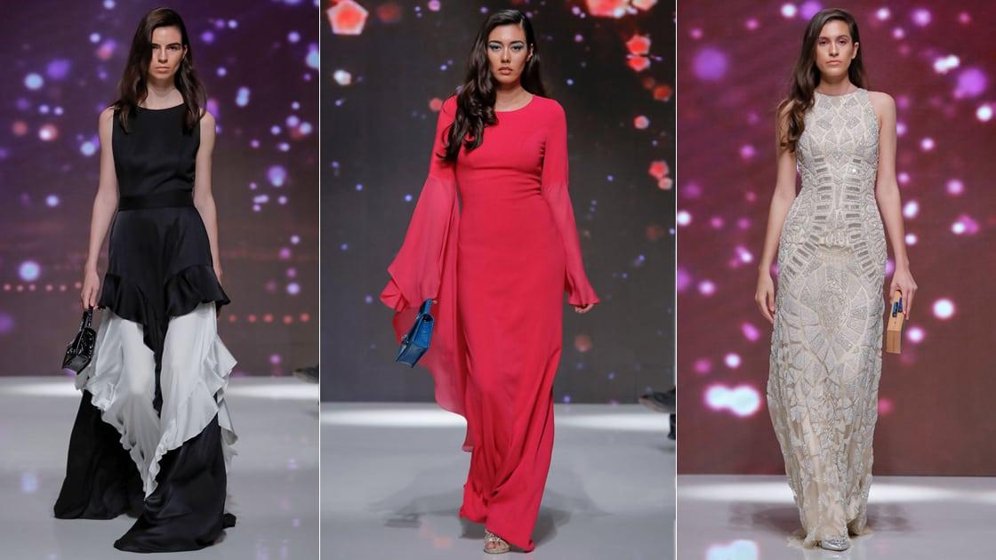 تصاميم مختلفة لعائشة رمضان من أسبوع الموضة بدبي لموسم 2020