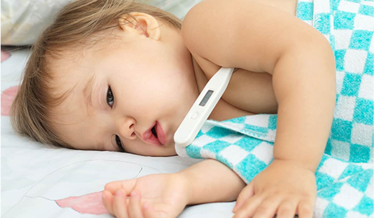 انخفاض درجة حرارة الطفل
