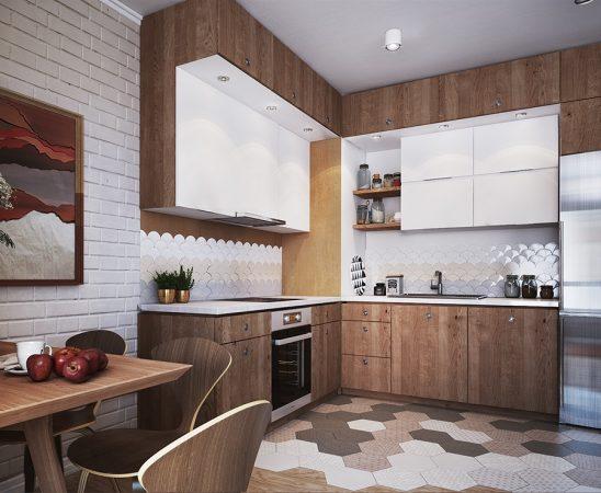 خزانة مطبخ بأشكال مختلفة
