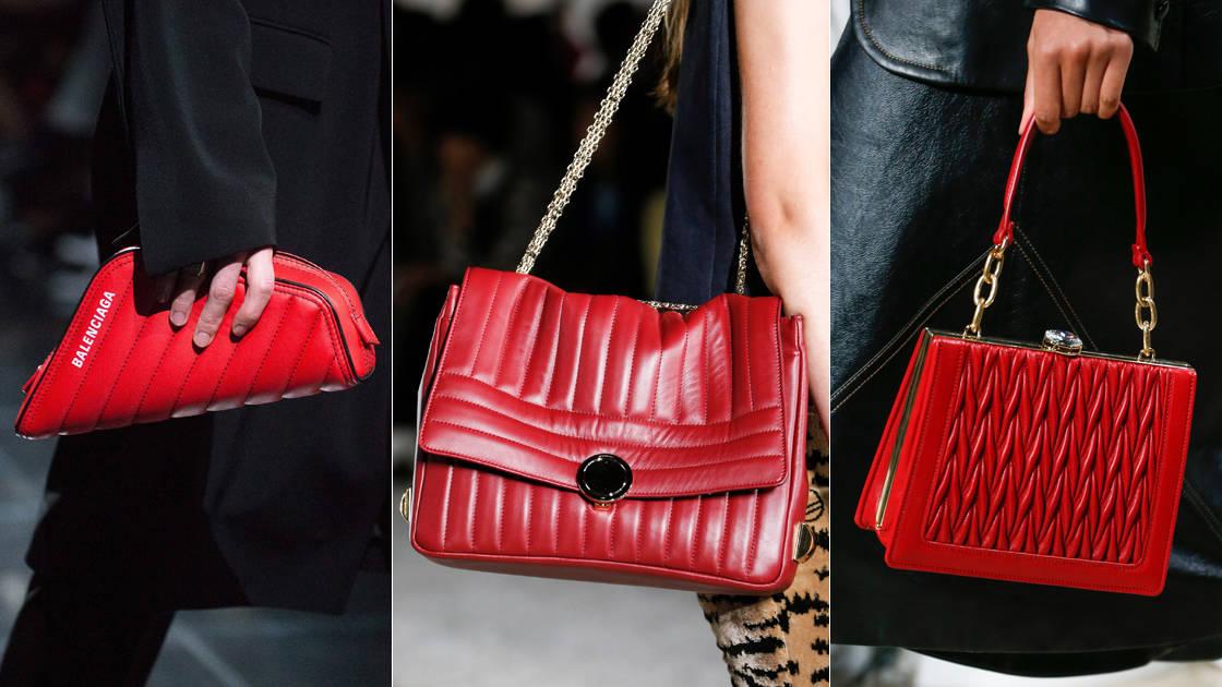 حقائب حمراء لإطلالة مفعمة بالجرأة