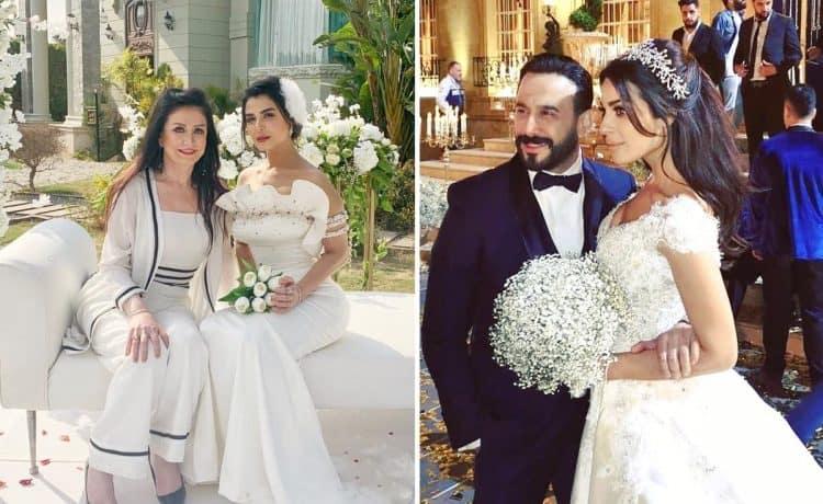 صور لنجمات مسلسلات رمضان بفستان الزفاف