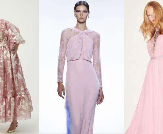 فساتين خطوبة باللون الوردي من أعرق دور الأزياء العالمية