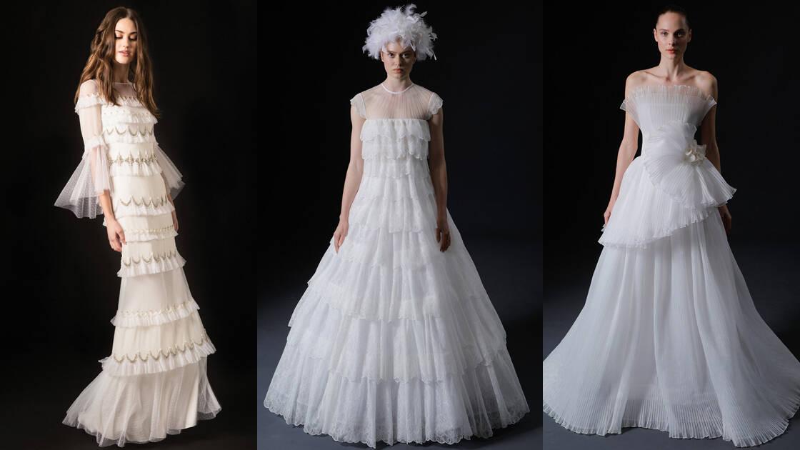 e3666e14d فساتين زفاف تناسب العروس النحيفة من أشهر الماركات العالمية