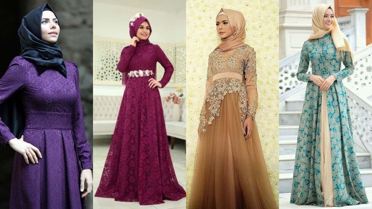 فستان سواري أنيق مع الحجاب
