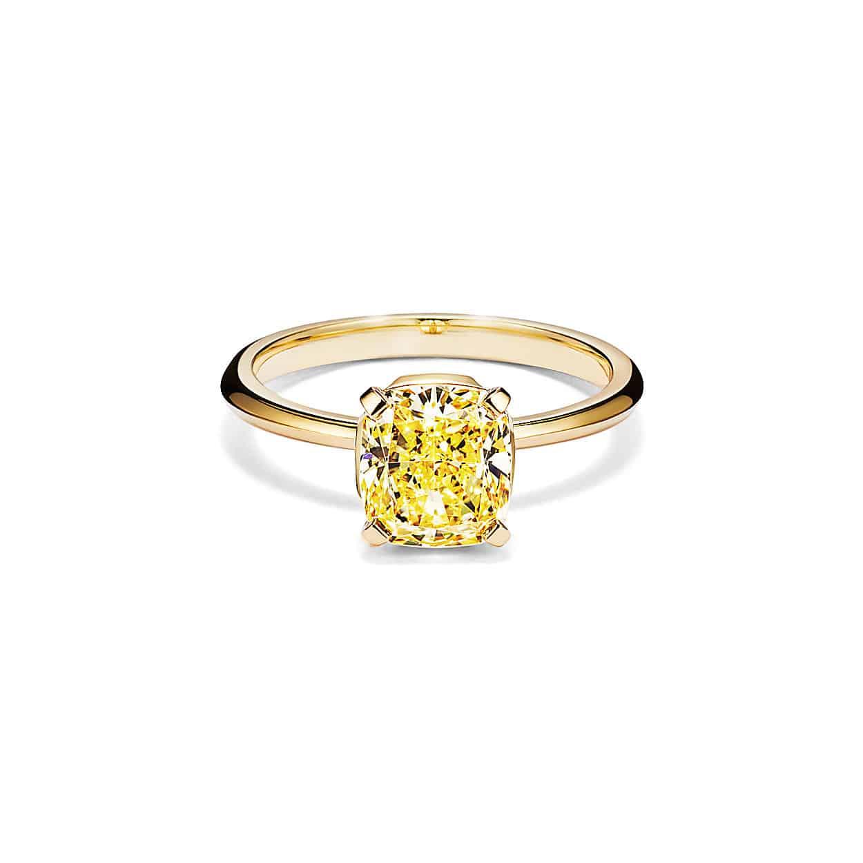 خاتم خطوبة من الماس الأصفر