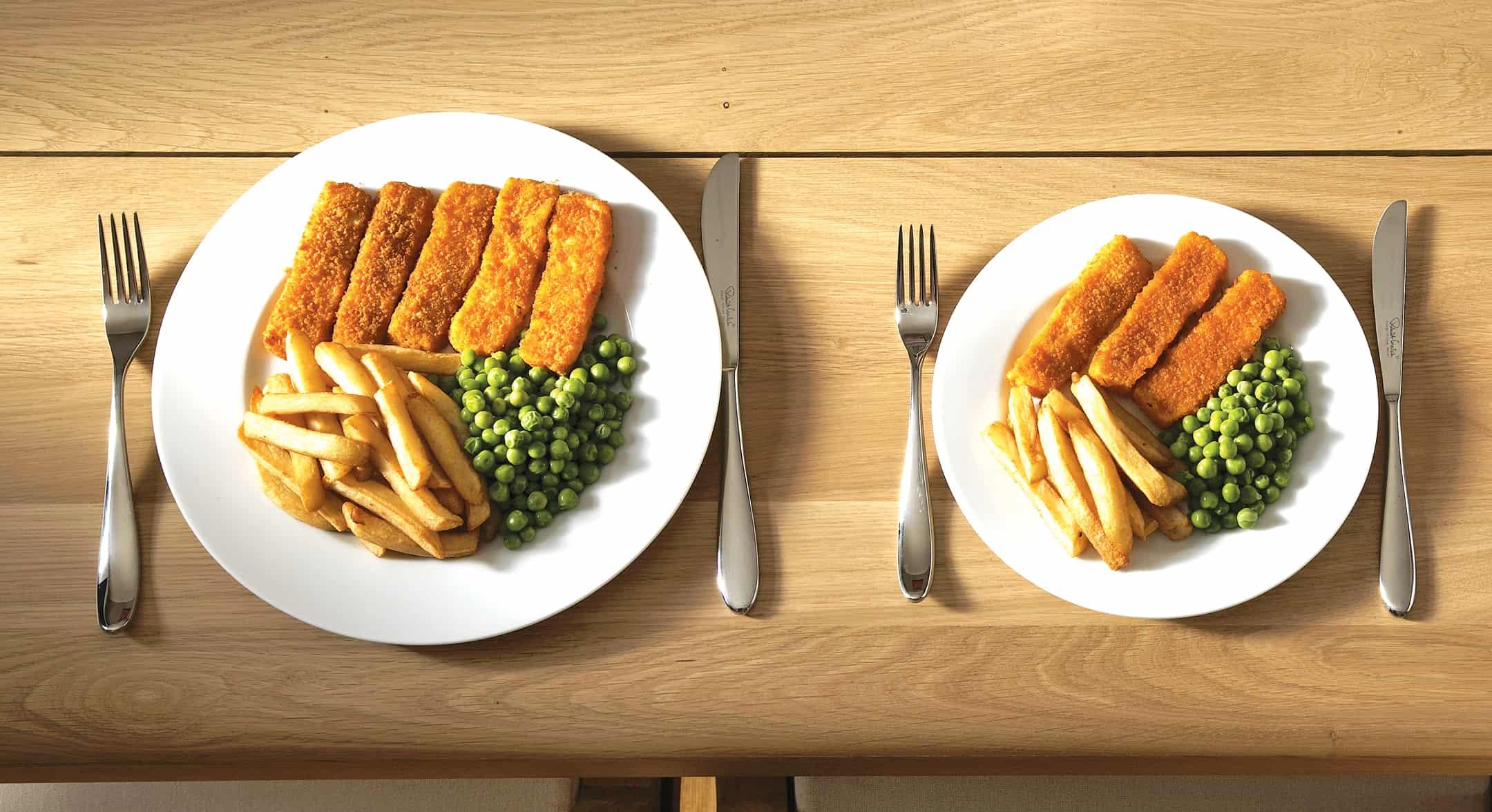 2- كيف أنقص وزني : استخدام أطباق أصغر للأغذية غير الصحية