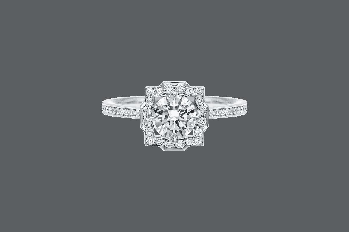 """خاتم خطوبة """"belle"""" من الماس"""