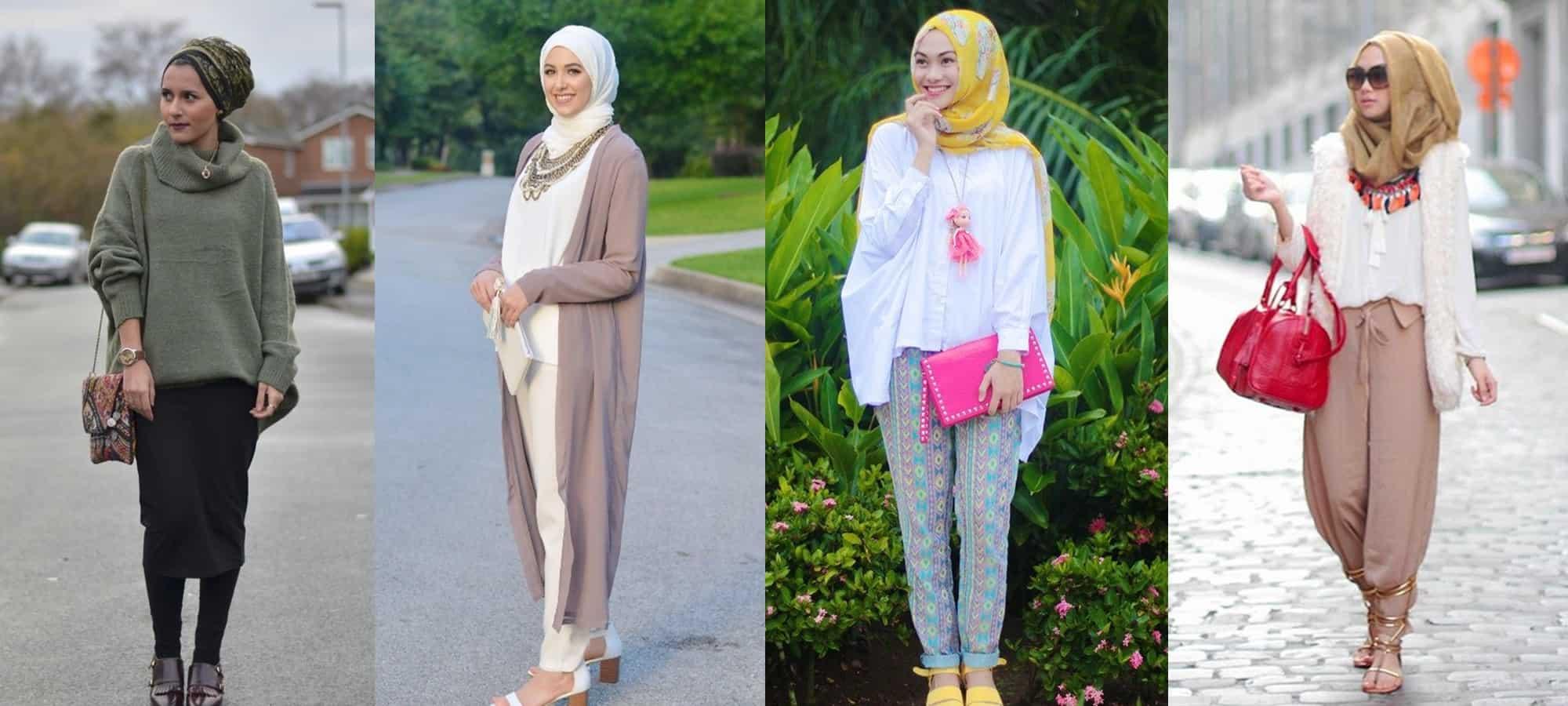 تنسيق ملابس المحجبات ملونة