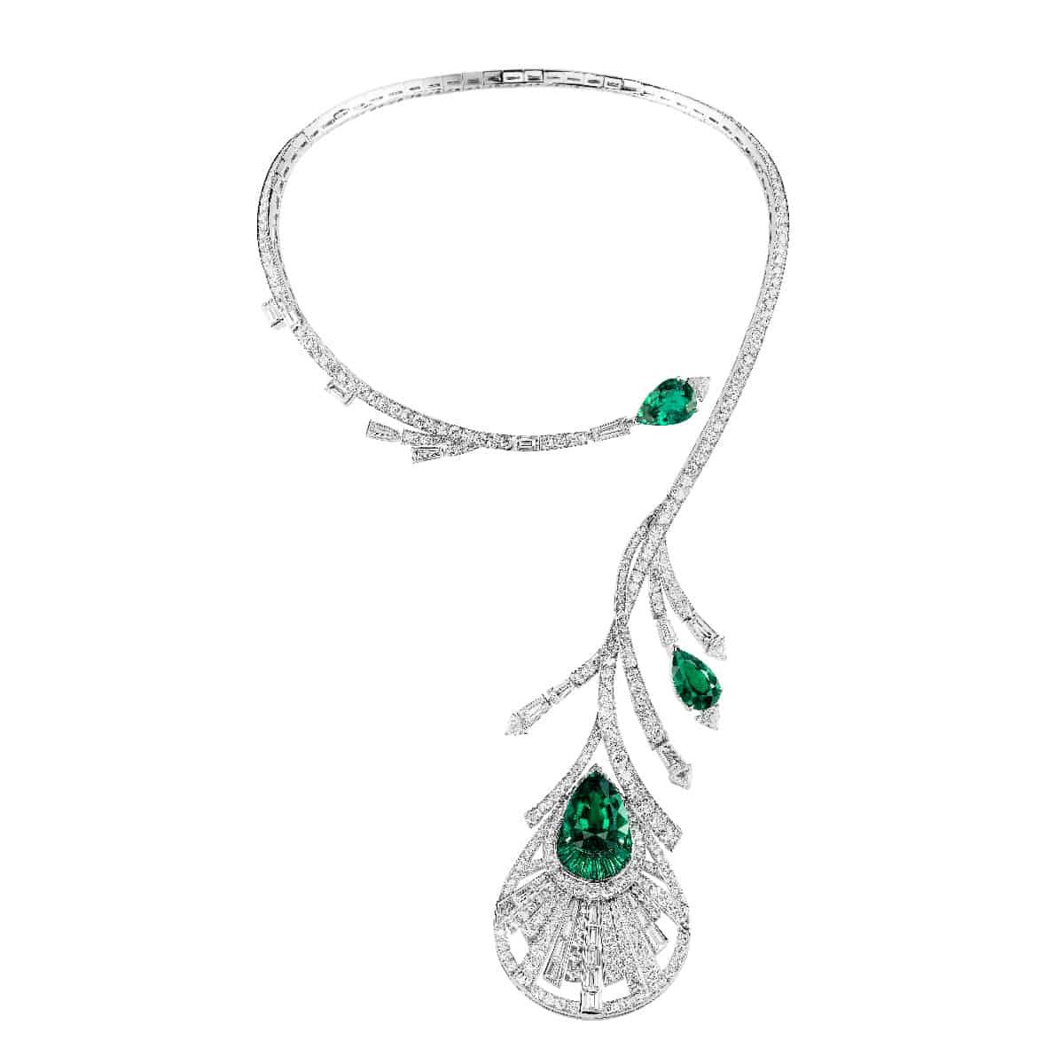 مجوهرات بوشورون: عقد ريشة الطاووس