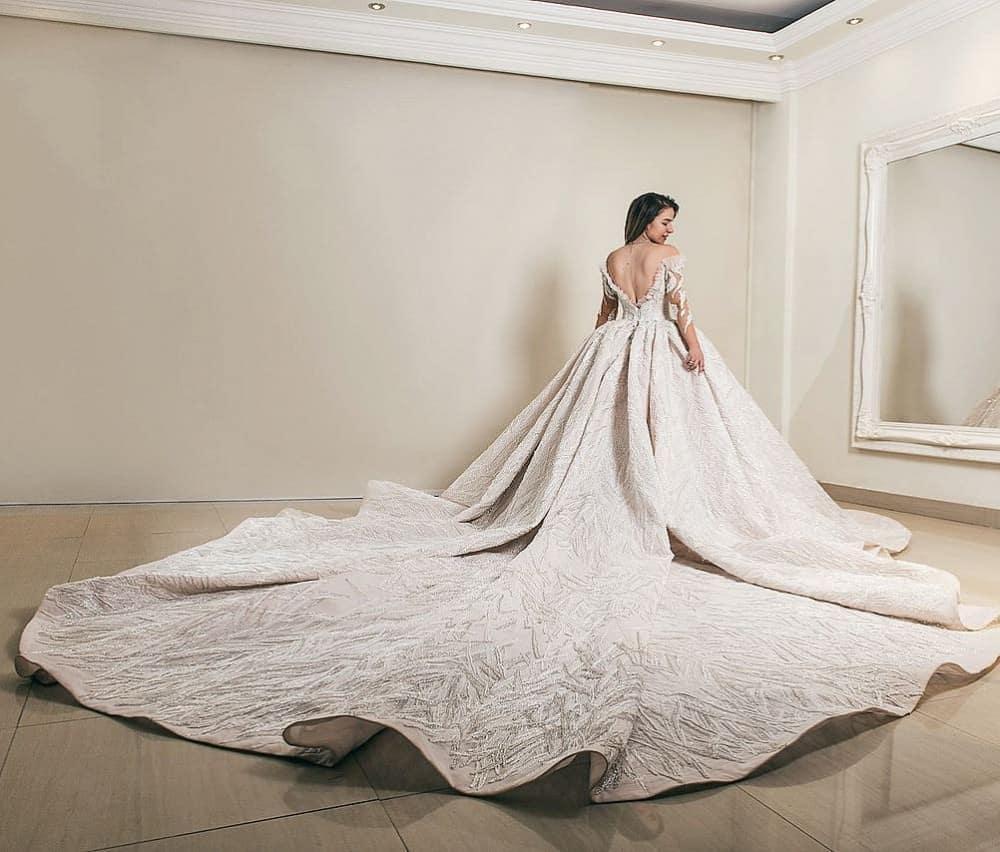 تصاميم مدهشة لفساتين زفاف إيمان صعب لكل عروس حالمة