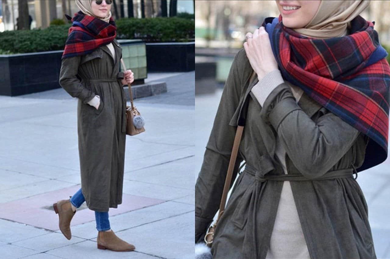 أفكار غير تقليدية لارتداء السكارف العريض