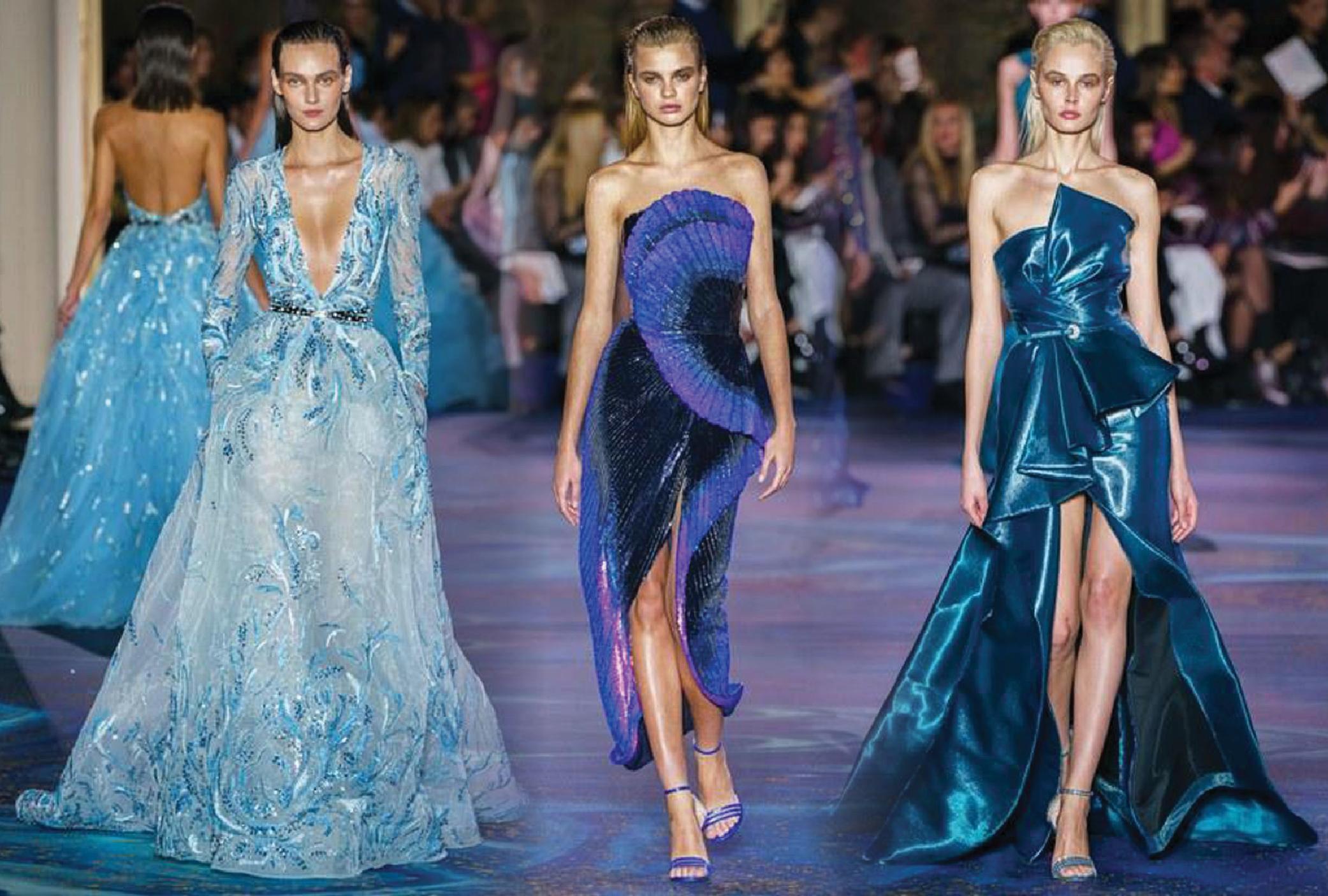 تشكيلة رائعة من فساتين السهرات لأسابيع الموضة