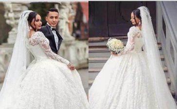 فساتين زفاف دانتيل للعروس الناعمة